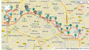 Paris Marathon Course
